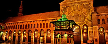 The Omayad Mosque and full moon