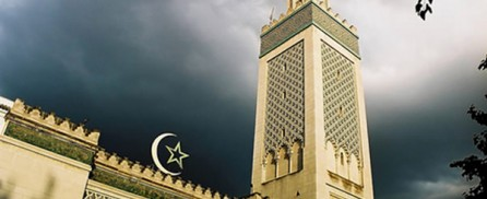 Stormy weather over the Mosque