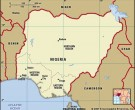 Nigeria's map in 1960